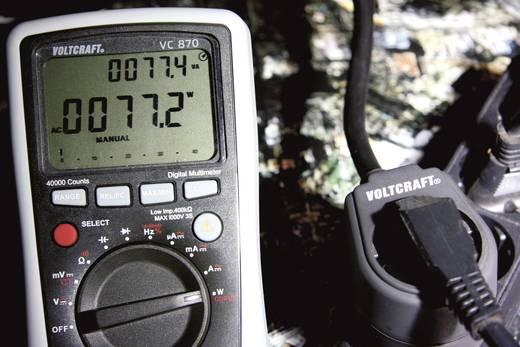 Digitális multiméter, True RMS, automata méréshatárváltás, hőmérséklet és teljesítménymérés, Voltcraft VC870