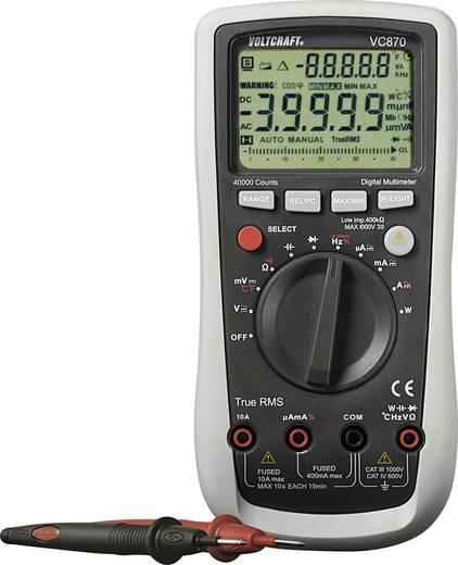ISO kalibrált digitális multiméter, True RMS, hőmérséklet és teljesítmény méréssel Voltcraft VC870 (ISO)
