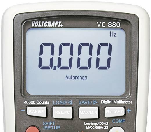 Digitális multiméter, adattárolós True RMS mérőműszer, kitöltési tényező mérés, 1000V AC/DC 10A AC/DC Voltcraft VC880