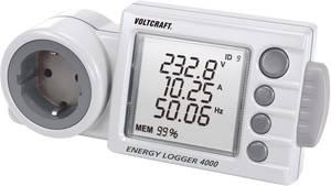 Energiafogyasztás mérő SD kártya nyílással, LCD 0,001 - 9999 kWh, 4320 óra, Voltcraft Energy Logger 4000 (125444) VOLTCRAFT
