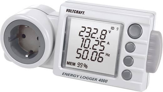 Energiafogyasztás mérő SD kártya nyílással, LCD 0,001 - 9999 kWh, 4320 óra, Voltcraft Energy Logger 4000