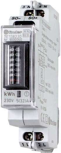 DIN sínre szerelhető 1 fázisú fogyasztásmérő 32A, MID hiteles, Finder 7E.13.8.230.0010