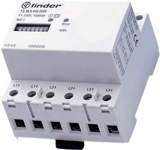 DIN sínre szerelhető fogyasztásmérő 65 A, 3 x 230 V/AC, 3 fázis, 999999.9 kWh, Finder 7E.36.8.400.0010