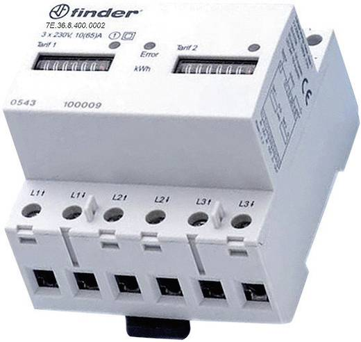 DIN sínre szerelhető 3 fázisú fogyasztásmérő 65A, MID hiteles, Finder 7E.36.8.400.0012