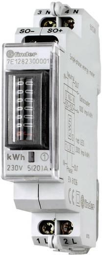 DIN sínre szerelhető fogyasztásmérő 20 A, 230 V/AC, 1 fázis, 999999.9 kWh, Finder 7E.12.8.230.0001