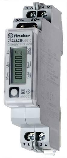 DIN sínre szerelhető, digitális fogyasztásmérő 32 A, 230 V/AC, 1 fázis, Finder 7E.23.8.230.0000
