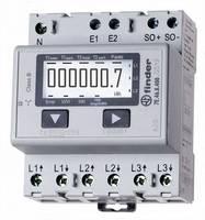 DIN sínre szerelhető 3 fázisú digitális fogyasztásmérő 65A, MID hiteles, Finder 7E.46.8.400.0012 (7E.46.8.400.0012) Finder