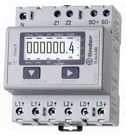 DIN sínre szerelhető 3 fázisú digitális fogyasztásmérő 1500A, MID hiteles, Finder 7E.56.8.400.0010