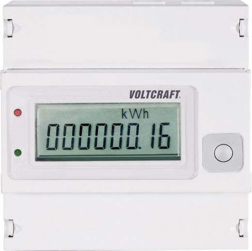 DIN sínre szerelhető, digitális fogyasztásmérő 80 A, 3 x 230 V/AC, 3 fázis, VOLTCRAFT VSM-102