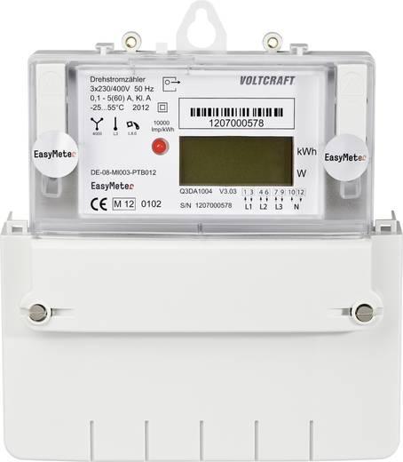 DIN sínre szerelhető 3 fázisú digitális fogyasztásmérő 60A, MID hiteles, Voltcraft Q3D A1004