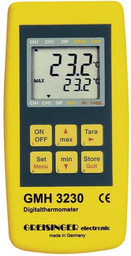 Greisinger GMH 3230 hőmérő műszer, -220 - +1768 °C (érzékelőtől függően), J, K, N, S, T