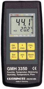 Greisinger GMH 3350 digitális páratartalom-, áramlás- és hőmérsékletmérő műszer Greisinger