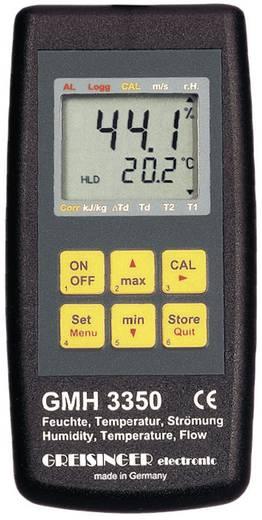 Greisinger GMH 3350 digitális páratartalom-, áramlás- és hőmérsékletmérő műszer