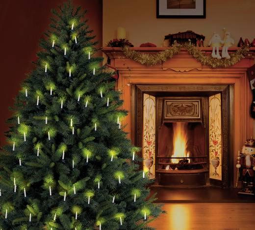 Beltéri karácsonyfa fényfüzér időkapcsolóval, gyertya, 10,7m, 20 LED, melegfehér, Polarlite LCA-01-002