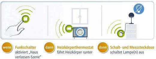 Devolo Home Control 9359 Rádiójel vezérlésű kapcsoló 4 csatornás Max. hatótáv (szabad területen) 100 m