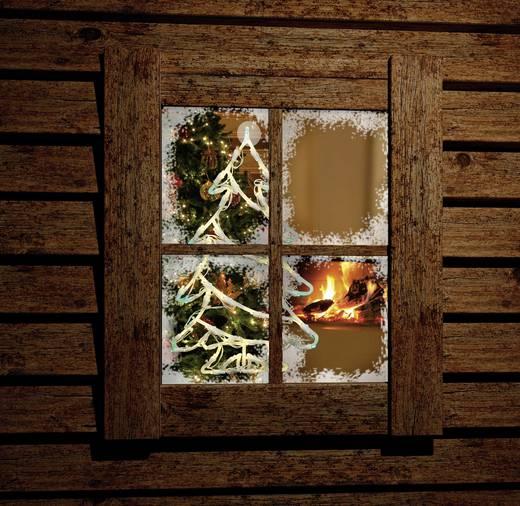 LED-es ablakdísz, karácsonyfa, fehér/zöld, Polarlite LDE-02-006