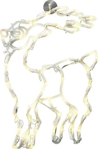 LED-es ablakdísz, Rudolf a rénszarvas, fehér, Polarlite LDE-02-007