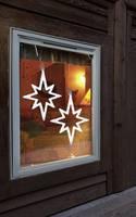 LED-es ablakdísz, csillag, fehér, Polarlite LDE-02-010 (LDE-02-010) Polarlite