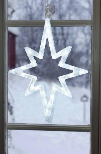 LED-es ablakdísz, csillag, fehér, Polarlite LDE-02-010