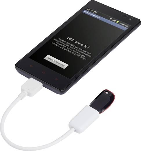 USB kábel OTG funkcióval, 1x USB 3.0 Micro B csatlakozó - 1 x USB 2.0 csatlakozó A, 0,10 m, fekete, Renkforce