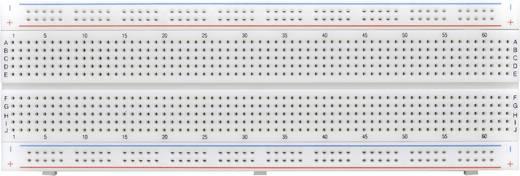 Dugaszolós próba panel, 830 pólus, 167 x 54.4 x 8.4 mm Tru Components 0165-40-4-16020