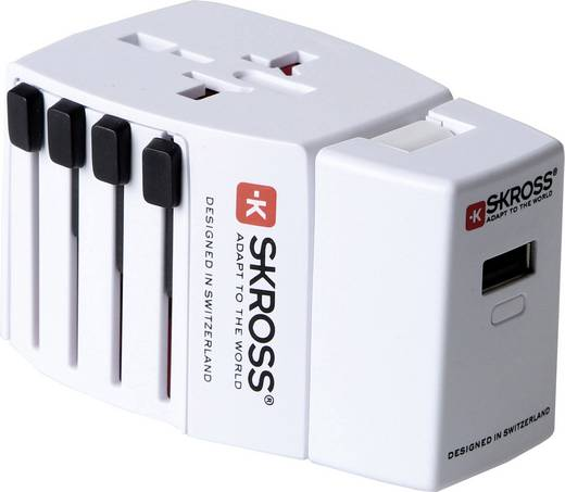 Univerzális konnektor átalakító úti adapter, MUV USB Power Pack Skross 1.302170