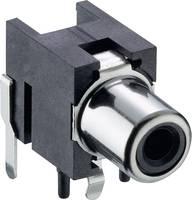 RCA csatlakozó alj, beépíthető, vízszintes fekete, Lumberg 1553 02 fekete (1553 02 schwarz) Lumberg