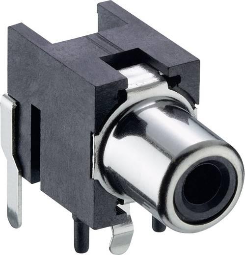 RCA csatlakozó alj, beépíthető, vízszintes fekete, Lumberg 1553 02 fekete