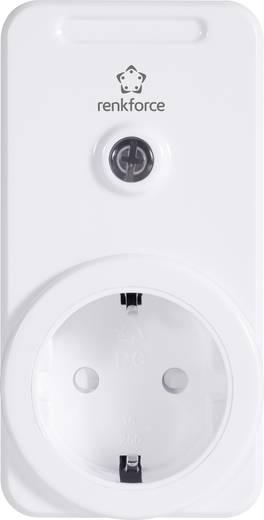 Vezeték nélküli beltéri konnektoros vevő, 1 csatornás, max. 3500W, max. 150m, fehér, renkforce RS2W