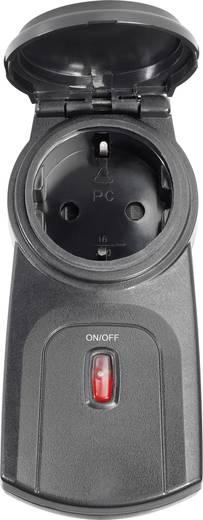 Vezeték nélküli kültéri konnektoros vevő, 1 csatornás, max. 3500W, max. 150m, fekete, renkforce RS2W