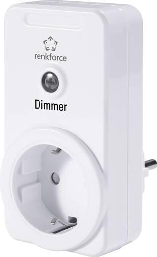 Vezeték nélküli beltéri konnektoros vevő, dimmer, 1 csatornás, max. 300W, max. 150m, fehér, renkforce RS2W
