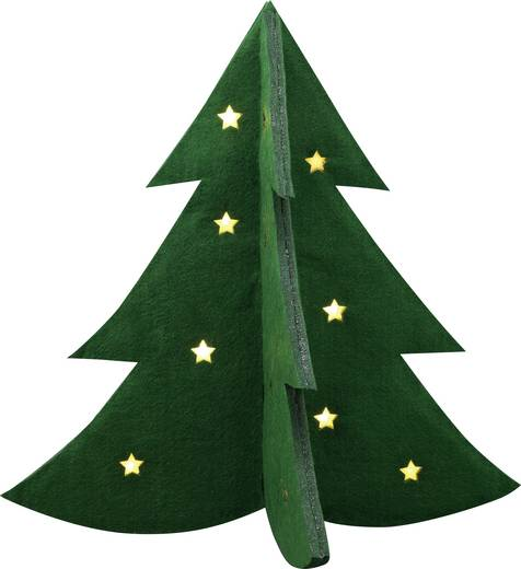 LED-es asztali dísz, karácsonyfa, Polarlite LDE-04-004