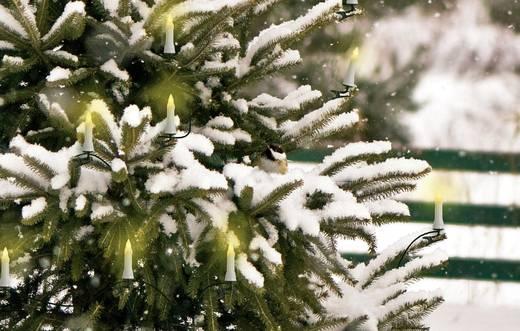 Kültéri karácsonyfa fényfüzér, gyertya, 17m, 16 LED, melegfehér, Polarlite PCA-01-001