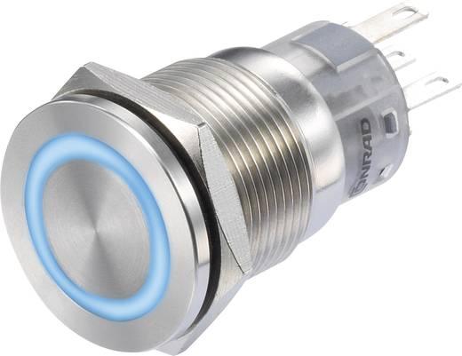 Nyomógomb 250 V/AC 3 A 1 x KI/(BE) Conrad LAS1-BGQ-11E/B/12V IP65