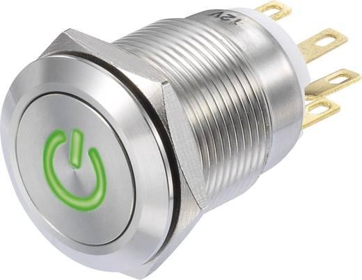 Nyomógomb 250 V/AC 3 A 1 x BE/(BE) Conrad LAS1-GQF-11/G/12V IP65