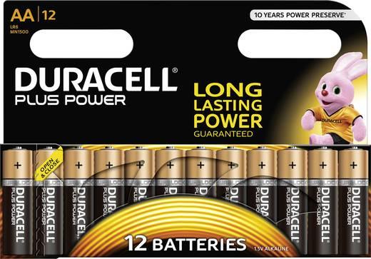 Ceruzaelem AA, alkáli mangán, 1,5V, 12 db, Duracell Pluspower LR06, AA, LR6, AAB4E, AM3, 815, E91, LR6N