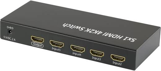 HDMI Switch, Ultra HD 3648 x 2160 pixel, 3D,5 port, távirányítóval, SpeaKa Professional