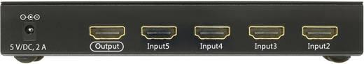 HDMI Switch, Ultra HD 3648 x 2160 pixel, 3D,5 port, távirányítóval, SpeaKa Professional