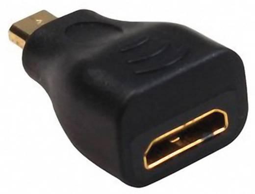 HDMI Adapter [1x HDMI-Stecker D Micro 1x HDMI-Buchse C mini] Schwarz vergoldete Steckkontakte, High Speed-HDMI mit E