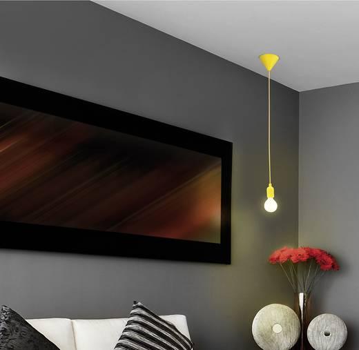 Függő lámpa, E27, 60W, sárga, Renkforce HG-024A