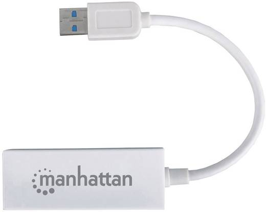 USB-s Ethernet hálózati adapter 100 Mbit/s Manhattan Fast Ethernet adapter USB 2.0