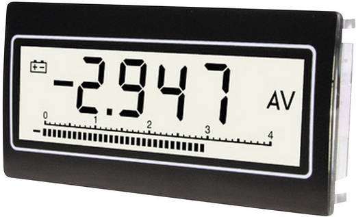 Voltmérő és ampermérő, felülnézetű kijelző, 0,1 mV - 300 V/DC/AC, 0,1 µA - 10 A/DC/AC, TDE Instruments DPM-802-TW-TV