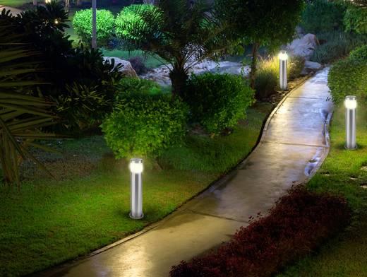 LED-es kültéri álló lámpa 10,5 W melegfehér, renkforce HY0002PSH-4/ 573c3 Riva rozsdamentes acél