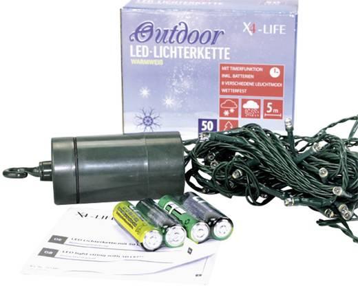 Fényfüzér kültérre/beltérre, 50 melegfehér LED, 5 m, X4-Life