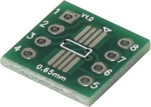 Kísérletező panel, (H x Sz) 12 x 12 mm, 35 µm, raszterméret 2.54 mm, TRU COMPONENTS SOP8, 1 db TRU COMPONENTS