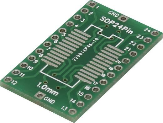 Epoxi kísérletező panel 30.48 17.8 mm 35 µm, raszter: 2,54 mm, Tru Components SOP24P