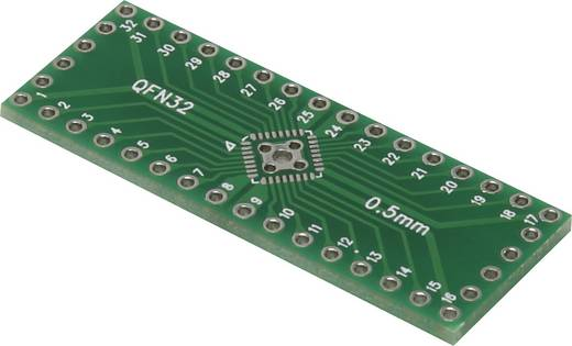 Epoxi kísérletező panel 40.50 15 mm 35 µm, raszter: 2,54 mm, Conrad QFN32P-40P