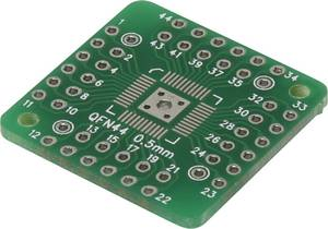 Kísérletező panel, (H x Sz) 25.4 x 25.4 mm, 35 µm, raszterméret 2,54 mm, Conrad Components QFN44-QFN48, 1 db Conrad Components