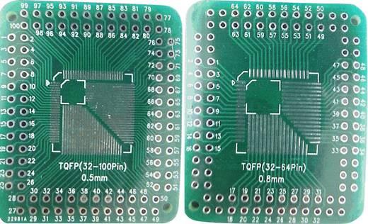 Epoxi kísérletező panel 46 38 mm 35 µm, raszter: 2,54 mm, Tru Components TQFP32-100P-32-64P