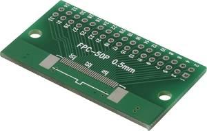 Kísérletező panel, (H x Sz) 54.8 x 26.4 mm, 35 µm, raszterméret 2,54 mm, epoxi, Conrad Components FPC34P-50P, 1 db Conrad Components